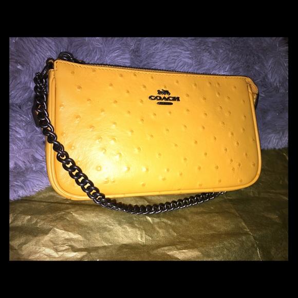 Coach Handbags - Coach Wristlet, Mustard Yellow